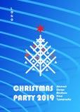2019 χρυσό σύνολο ΚΑΡΤΩΝ διακοσμήσεων πολυτέλειας γεγονότος Χριστουγέννων καλής χρονιάς χειμερινών διακοπών διανυσματική απεικόνιση