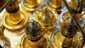 Χρυσό σύνολο καφέ Στοκ φωτογραφία με δικαίωμα ελεύθερης χρήσης