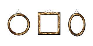 χρυσό σύνολο πλαισίων απεικόνιση αποθεμάτων