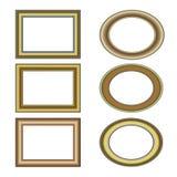 χρυσό σύνολο προτύπων πλα&iot Στοκ φωτογραφίες με δικαίωμα ελεύθερης χρήσης