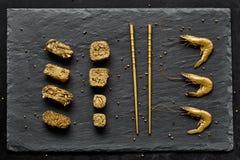Χρυσό σύνολο σουσιών πολυτέλειας Στοκ Εικόνα