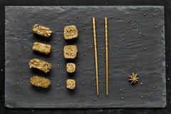 Χρυσό σύνολο σουσιών πολυτέλειας Στοκ εικόνες με δικαίωμα ελεύθερης χρήσης