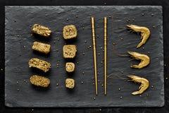 Χρυσό σύνολο σουσιών πολυτέλειας Στοκ φωτογραφία με δικαίωμα ελεύθερης χρήσης