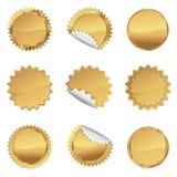 Χρυσό σύνολο Starbursts, απεικόνιση Στοκ Φωτογραφία