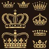Χρυσό σύνολο κορωνών απεικόνιση αποθεμάτων