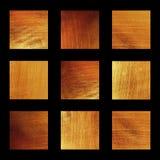 Χρυσό σύνολο σύστασης φύλλων αλουμινίου φυσικό Στοκ φωτογραφία με δικαίωμα ελεύθερης χρήσης