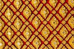 Χρυσό ταϊλανδικό ύφος τέχνης αρχαίο Στοκ Εικόνα