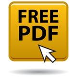 Χρυσό τετραγωνικό κουμπί εικονιδίων Ιστού Pdf στοκ φωτογραφία με δικαίωμα ελεύθερης χρήσης