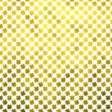Χρυσό τριφύλλι τέσσερα ιρλανδικά σημεία σημείων Πόλκα ημέρας του ST Πάτρικ τριφυλλιού φύλλων Στοκ Εικόνες