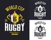 Χρυσό τρόπαιο ράγκμπι για το έμβλημα Παγκόσμιου Κυπέλλου ελεύθερη απεικόνιση δικαιώματος