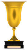 χρυσό τρόπαιο φλυτζανιών Στοκ εικόνα με δικαίωμα ελεύθερης χρήσης