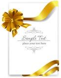 Χρυσό τόξο δώρων με τις κορδέλλες διανυσματική απεικόνιση