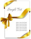 Χρυσό τόξο δώρων με τις κορδέλλες ελεύθερη απεικόνιση δικαιώματος