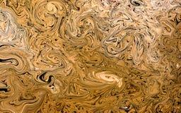 Χρυσό υγρό υπόβαθρο Στοκ φωτογραφίες με δικαίωμα ελεύθερης χρήσης