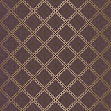 Χρυσό υπόβαθρο γραμμών τετραγώνων σχεδίων του Art Deco Απεικόνιση αποθεμάτων