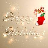 Χρυσό υπόβαθρο διακοπών Χριστουγέννων ελεύθερη απεικόνιση δικαιώματος