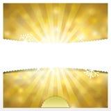 Χρυσό υπόβαθρο διακοπών Στοκ εικόνα με δικαίωμα ελεύθερης χρήσης