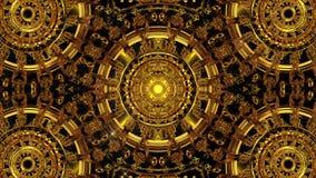 Χρυσό υπόβαθρο καλειδοσκόπιων απόθεμα βίντεο