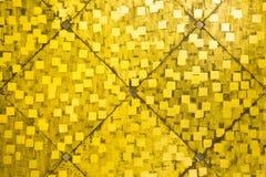 Χρυσό υπόβαθρο κεραμιδιών Στοκ φωτογραφία με δικαίωμα ελεύθερης χρήσης