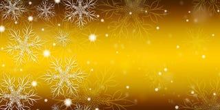 Χρυσό υπόβαθρο κλίσης με snowflakes απεικόνιση αποθεμάτων