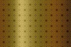 Χρυσό υπόβαθρο με το σχέδιο Στοκ Φωτογραφία