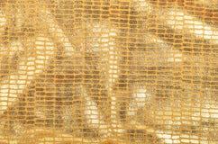 Χρυσό υπόβαθρο μπροκάρ Στοκ φωτογραφία με δικαίωμα ελεύθερης χρήσης