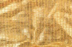 Χρυσό υπόβαθρο μπροκάρ Στοκ εικόνα με δικαίωμα ελεύθερης χρήσης