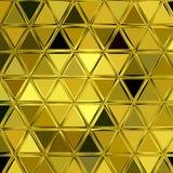 Χρυσό υπόβαθρο μωσαϊκών τριγώνων Στοκ Εικόνες