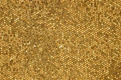 Χρυσό υπόβαθρο μωσαϊκών Στοκ Εικόνα