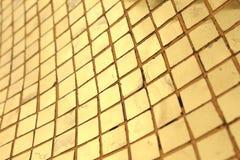 Χρυσό υπόβαθρο μωσαϊκών Στοκ φωτογραφίες με δικαίωμα ελεύθερης χρήσης