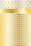 Χρυσό υπόβαθρο πρόσκλησης γαμήλιας πολυτέλειας Στοκ εικόνα με δικαίωμα ελεύθερης χρήσης