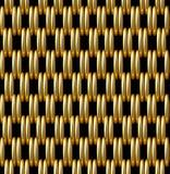 Χρυσό υπόβαθρο σχεδίων πλέγματος διανυσματικό άνευ ραφής Στοκ Εικόνες