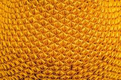 Χρυσό υπόβαθρο σχεδίων σύστασης Στοκ φωτογραφία με δικαίωμα ελεύθερης χρήσης