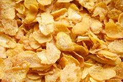 Χρυσό υπόβαθρο σύστασης προγευμάτων δημητριακών Στοκ Φωτογραφία