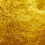 Χρυσό υπόβαθρο σύστασης φύλλων αλουμινίου Στοκ εικόνες με δικαίωμα ελεύθερης χρήσης