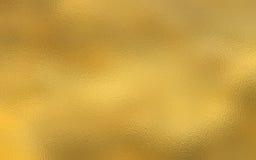 Χρυσό υπόβαθρο σύστασης φύλλων αλουμινίου Στοκ Φωτογραφίες