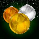 Χρυσό υπόβαθρο Χριστουγέννων Στοκ εικόνες με δικαίωμα ελεύθερης χρήσης
