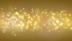Χρυσό υπόβαθρο Bokeh μορίων απόθεμα βίντεο