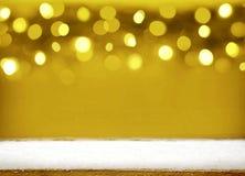 Χρυσό υπόβαθρο bokeh Χριστουγέννων Στοκ Εικόνες