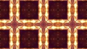 Χρυσό υπόβαθρο sci-Fi των φωτεινών μορίων με τα οποία καμπύλες μορφής, επιφάνειες, σύνθετες δομές, time-varying κύματα ελεύθερη απεικόνιση δικαιώματος