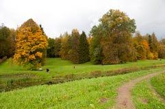 Χρυσό φθινόπωρο Pavlovsk στοκ φωτογραφία με δικαίωμα ελεύθερης χρήσης