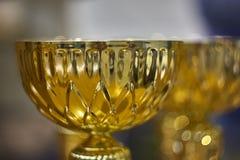 Χρυσό φλυτζάνι βραβείων Στοκ Εικόνες