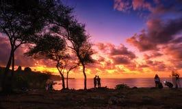 Χρυσό φως στην παραλία Tegal Wangi στοκ εικόνες με δικαίωμα ελεύθερης χρήσης