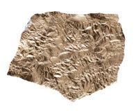 Χρυσό φύλλο αλουμινίου σε ένα άσπρο υπόβαθρο Στοκ εικόνες με δικαίωμα ελεύθερης χρήσης
