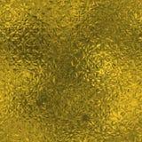 Χρυσό φύλλο αλουμινίου άνευ ραφής και σύσταση υποβάθρου πολυτέλειας Tileable Ακτινοβολώντας ζαρωμένο διακοπές χρυσό υπόβαθρο Στοκ Φωτογραφία