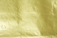 Χρυσό φύλλο αλουμινίου Στοκ εικόνες με δικαίωμα ελεύθερης χρήσης
