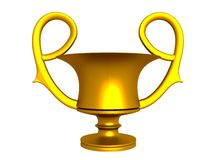 Χρυσό φλυτζάνι Στοκ εικόνες με δικαίωμα ελεύθερης χρήσης