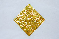 Χρυσό χαρασμένο λουλούδι Στοκ Εικόνα