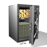 χρυσό χρηματοκιβώτιο Στοκ Φωτογραφία