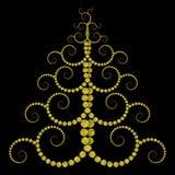 Χρυσό χριστουγεννιάτικο δέντρο Στοκ φωτογραφίες με δικαίωμα ελεύθερης χρήσης